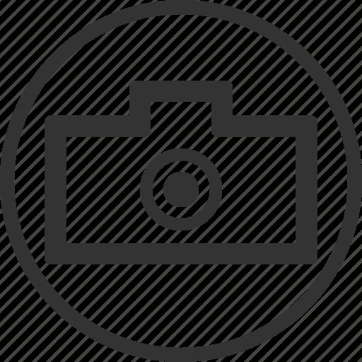 camera, circle, gallery, photo, picture icon