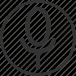 circle, mic, microphone, recording, voice icon