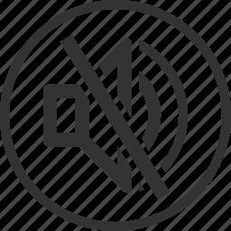 circle, mute, no sound, sound, volume icon