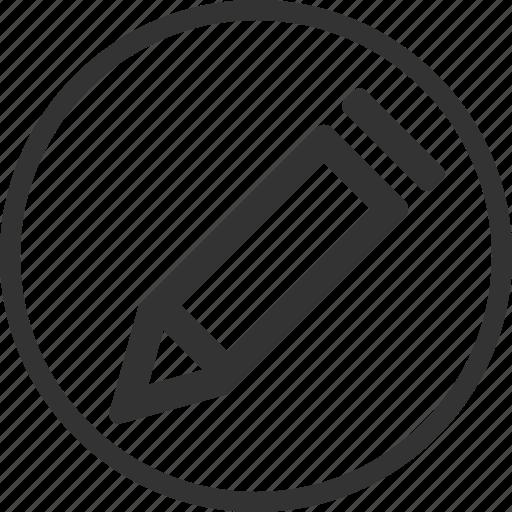 add, circle, edit, news, pen, pencil, write icon