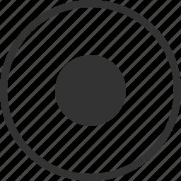 audio, circle, dot, record, recording, video icon