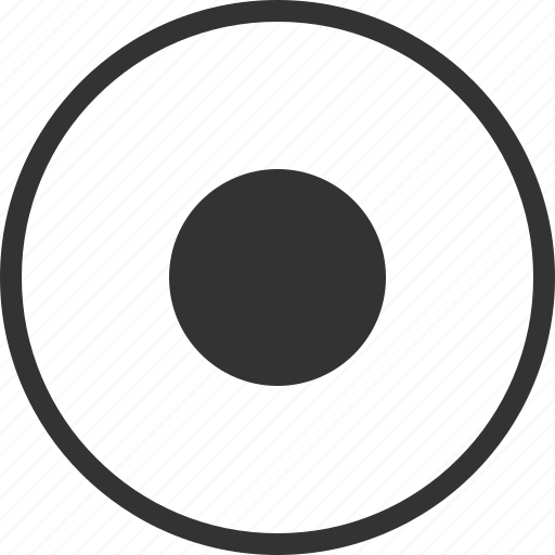 Audio Circle Dot Record Recording Video Icon