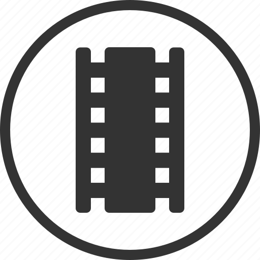 cinema, circle, film, movie, video icon