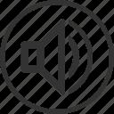 circle, control, music, sound, volume icon