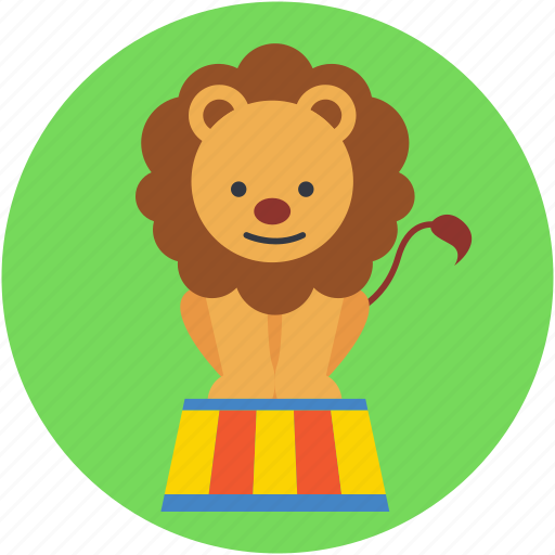 cirque, equilibristic, lion circus, lion show, show icon