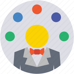 circus, jester, juggling, juggling clown, performance icon