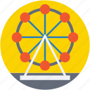 amusement park, carnival, fairground, ferris wheel, sky wheel icon