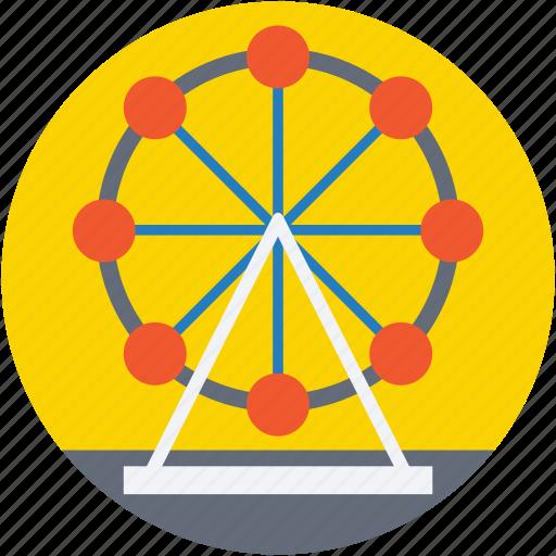 amusement park, carnival, fairground, ferris wheel, sky wheel icon