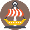 boat, circus boat, dragon swing, swing, swing boats icon