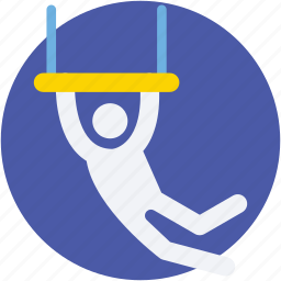 acrobatic, aerial, circus performer, gym, trapeze icon
