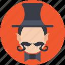 circus tamer, circus trainer, entertainer, magician, performer icon