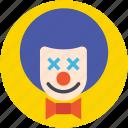 buffoon, clown, jester, joker, joker face
