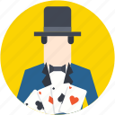 card magician, cardistry, cardistry man, magic card, magicians icon