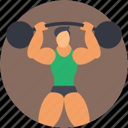 bodybuilder, fitness, gym, weightlifter, weightlifting icon