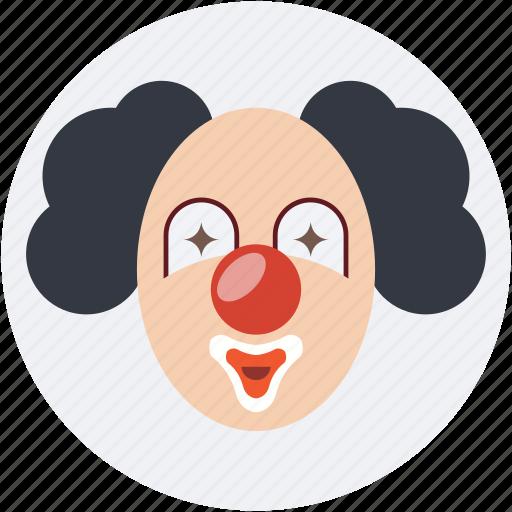 circus, clown, fun, jester, joker icon