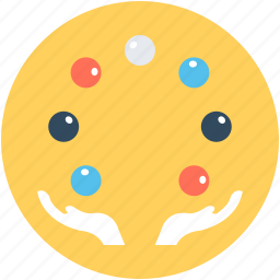 circus, juggling, juggling balls, juggling clown, performance icon