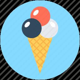 cake cone, cone, ice cone, ice cream, snow cone icon