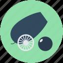 bombard, bronze cannon, cannon, circus cannon, howitzer icon
