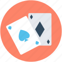casino cards, diamond card, playing cards, poker cards, spade card icon