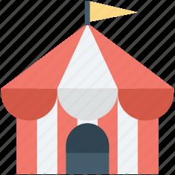 carnival, circus, circus tent, fairground, fun icon