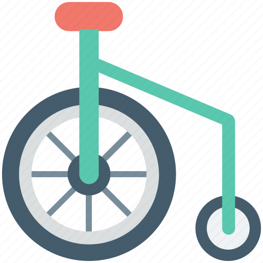 circus cycle, clown bike, clown cycle, monocycle, unicycle icon