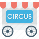 circus cage, circus cart, circus trolley, circus wagon, train car icon