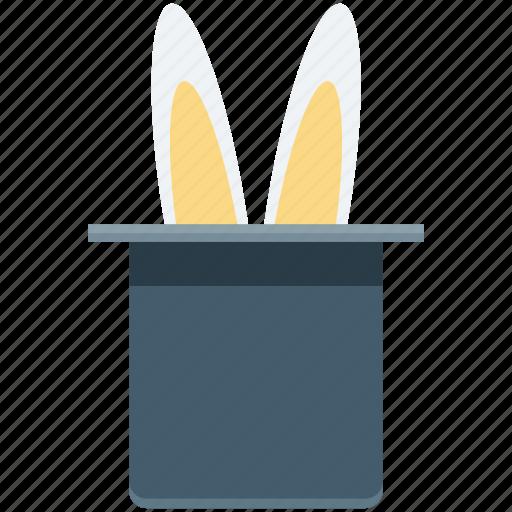 magic, magic show, magic trick, magician hat, rabbit icon
