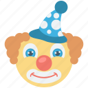 circus, clown, fun, jester, joker icon