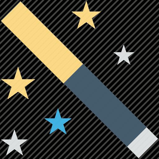 fairy wand, magic stick, magic wand, magician, wizard wand icon