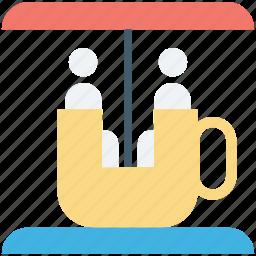 amusement park, circus, fair, ride, rotative cup icon