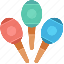 bowling pins, juggling club, circus, juggling, maraca