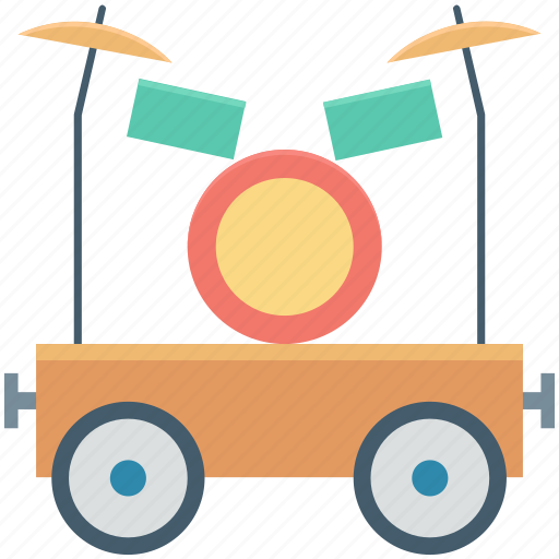 circus car, circus cart, circus trolley, parade car, train car icon