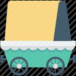 circus cage, circus cart, circus trolley, circus wagon, train car icon