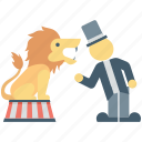 animal, animal show, circus animal, circus lion, performance icon