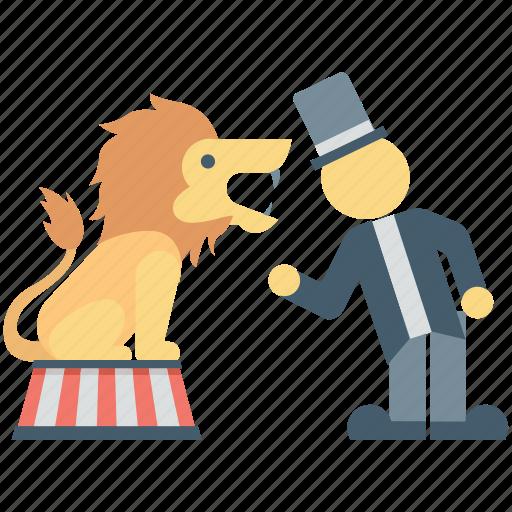 Animal show, performance, circus animal, animal, circus lion icon