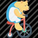 circus animal, bike, circus bear, animal, circus show