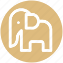 animal, animal show, circus, circus animal, circus elephant, performance icon