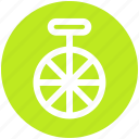 bike, circus, cycle, mono cycle, unicycle, wheel icon