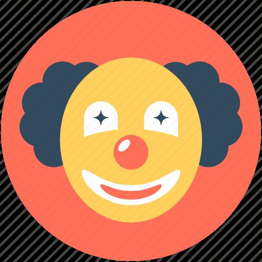 buffoon, clown, clown face, jester, joker icon