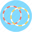 circus hoops, cyr wheel, hula hoops, ring wheel, rings icon