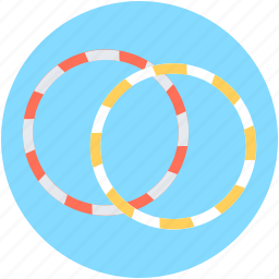 circus hoops, cyr wheel, hula hoops, ring wheel, rings icon