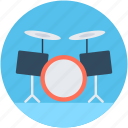 drum kit, drum set, just drums, musical instrument, trap set icon