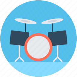 drum kit, drum set, just drums, musical instrument, trap set icon