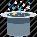 magic, magic show, magic trick, magician cap, magician hat icon