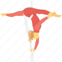 acrobatic, acrobatic dance, acrobatic yoga, gymnastic feat, yoga pose icon