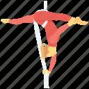 acrobatic, acrobatic dance, acrobatic yoga, gymnastic feat, yoga pose icon