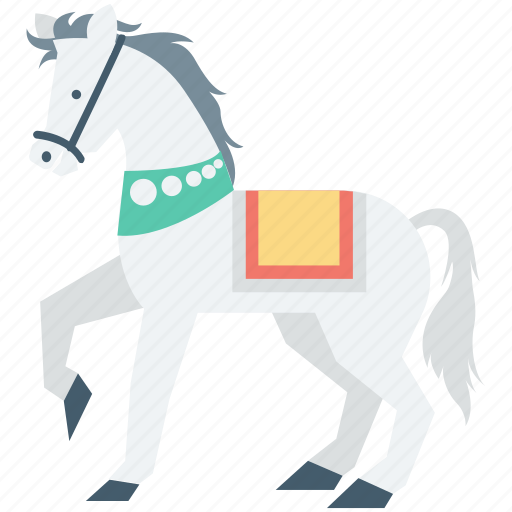 animal, animal show, circus horse, horse, horse drama icon