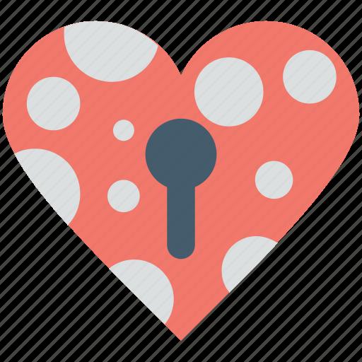 heart, heart lock, keyhole, love, secret feelings icon
