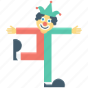 buffoon, clown, jester, joker icon