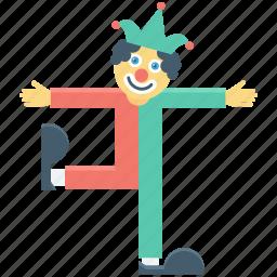 buffoon, clown, jester, joker icon